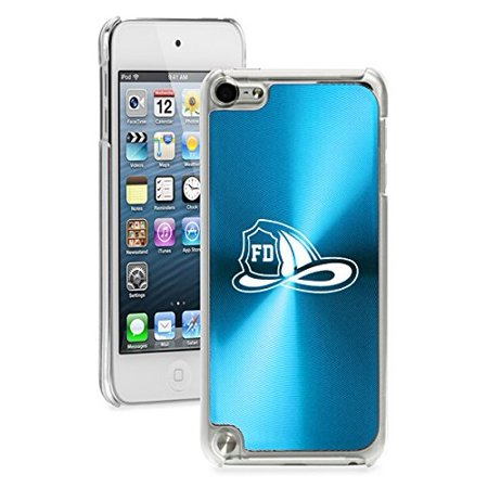 For Apple iPod Touch 5th / 6th Generation Hard Back Case Cover Firefighter Helmet (Light Blue)](Firefighter Helmet Lights)