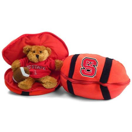 North Carolina State Wolfpack Stuffed Bear in a Ball - Football (Bear Balls)