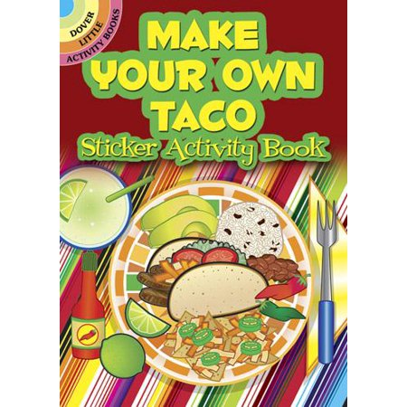 Dover Little Activity Books: Make Your Own Taco Sticker Activity Book (Paperback) - Make Your Own Cat