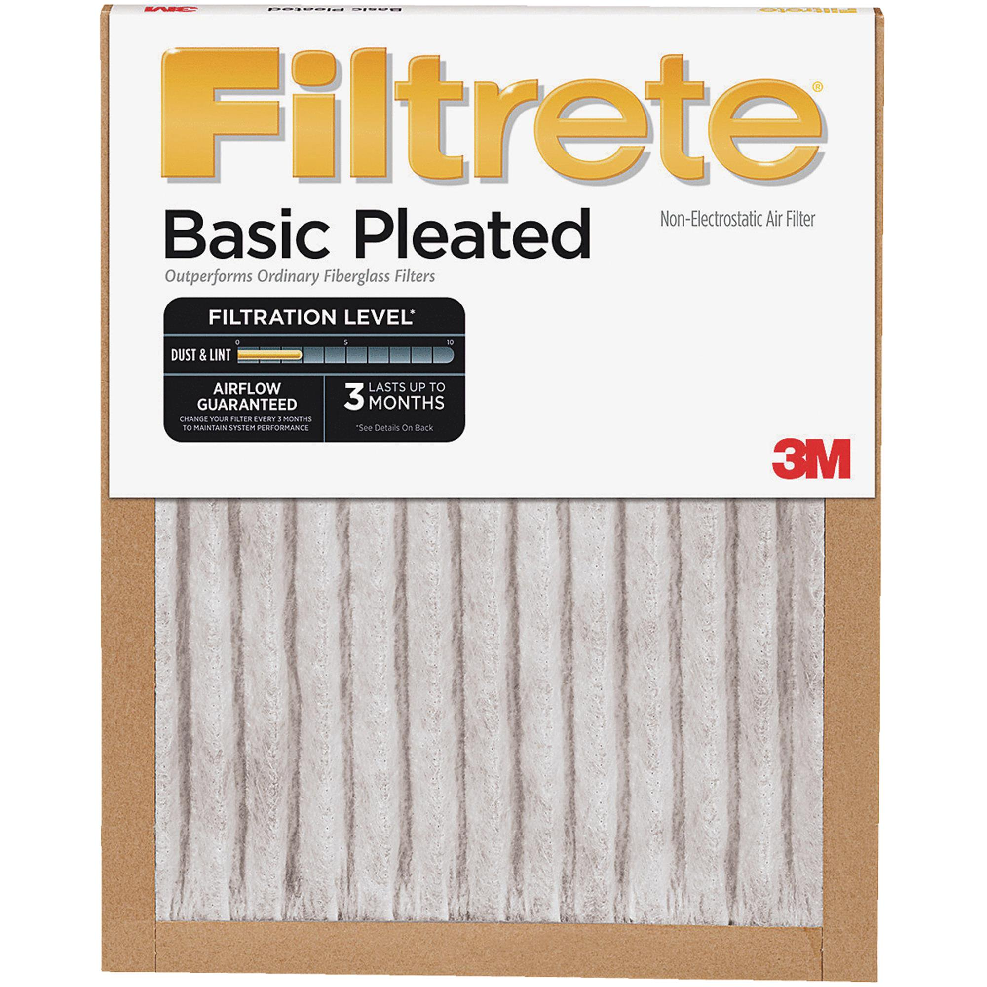 3M Filtrete Basic Pleated Furnace Filter