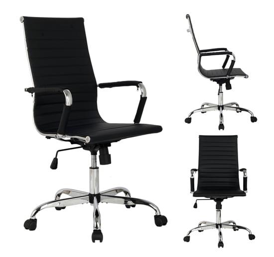 Modern Ergonomic Office Chair PU Leather HighampMed Back