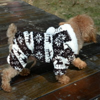 5b30a3d18bfb Product Image Small Dog Pet Warm Winter Coat Jumpsuit Hoodie Pajamas Clothes  Puppy Costume