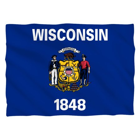Wisconsin Flag Pillow Case