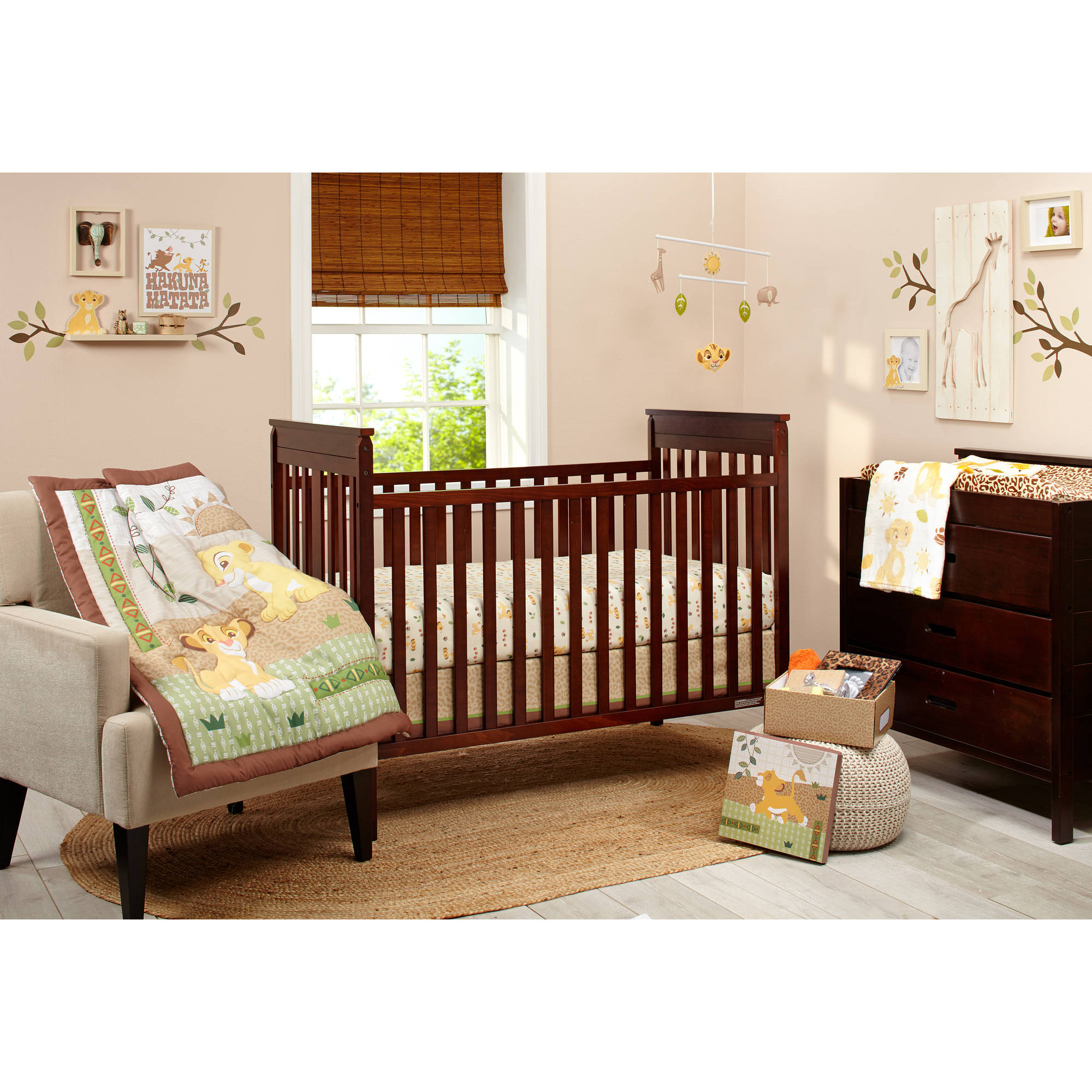 Lion King Under the Sun 4-Piece Crib Bedding Set