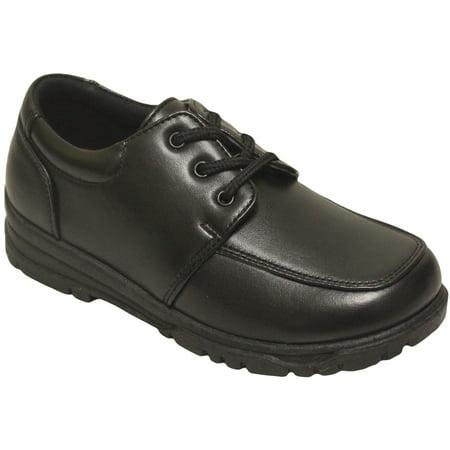 Danuccelli 2212143 Boys Black Lace Up Mocc Toe Oxfords Dress Shoes