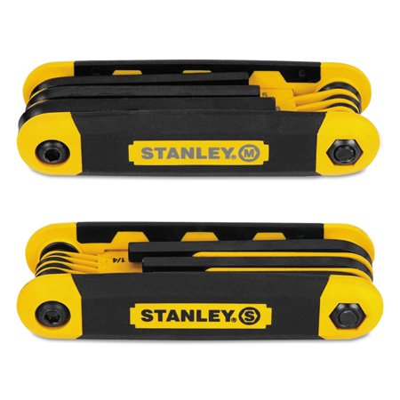 Stanley STHT71839 Folding Metric And SAE Hex Keys 2 (Folding Large Hex Key Set)