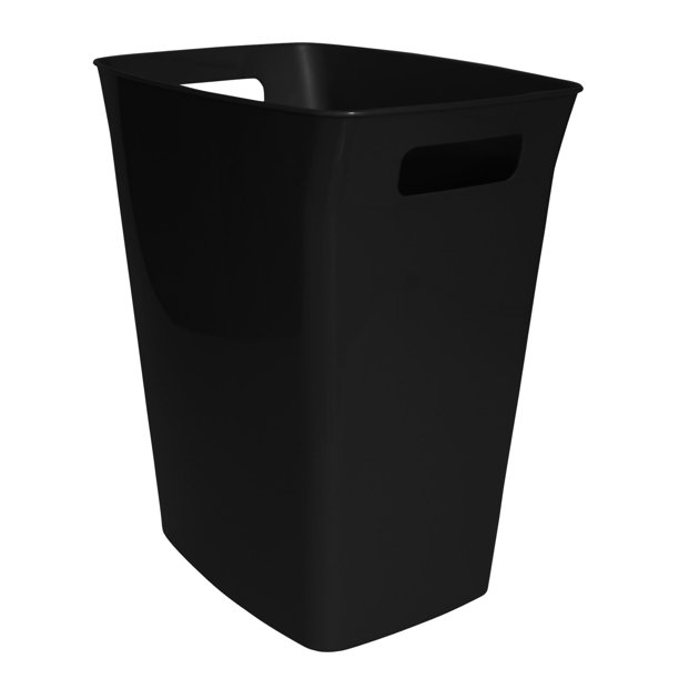 Hefty 6 Gallon Handled Wastebasket Black Walmart Com Walmart Com