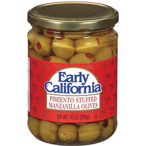 Early California Manzanilla Pimiento Stuffed Olives, 10 oz
