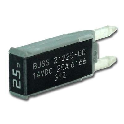 Series Mini Breakers (3PK EATON's Bussmann Series 21225-00 MINI Circuit Breaker, Type II Reset, 25A)