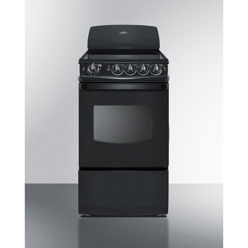 Summit Appliance Summit 20'' Free-standing Smooth-Top Electric Range