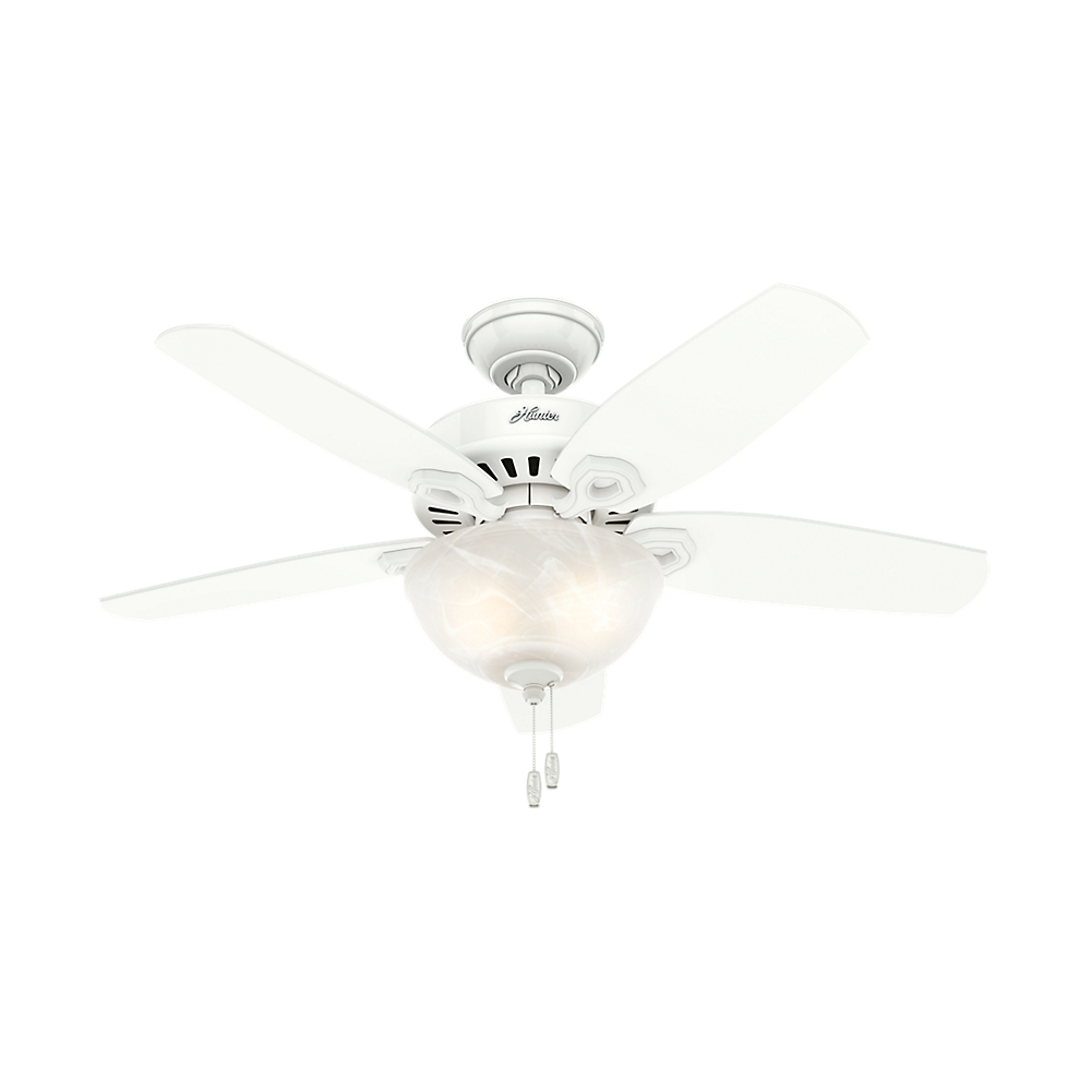 """Hunter 42"""" Builder Small Room Snow White Ceiling Fan with Light by Hunter"""