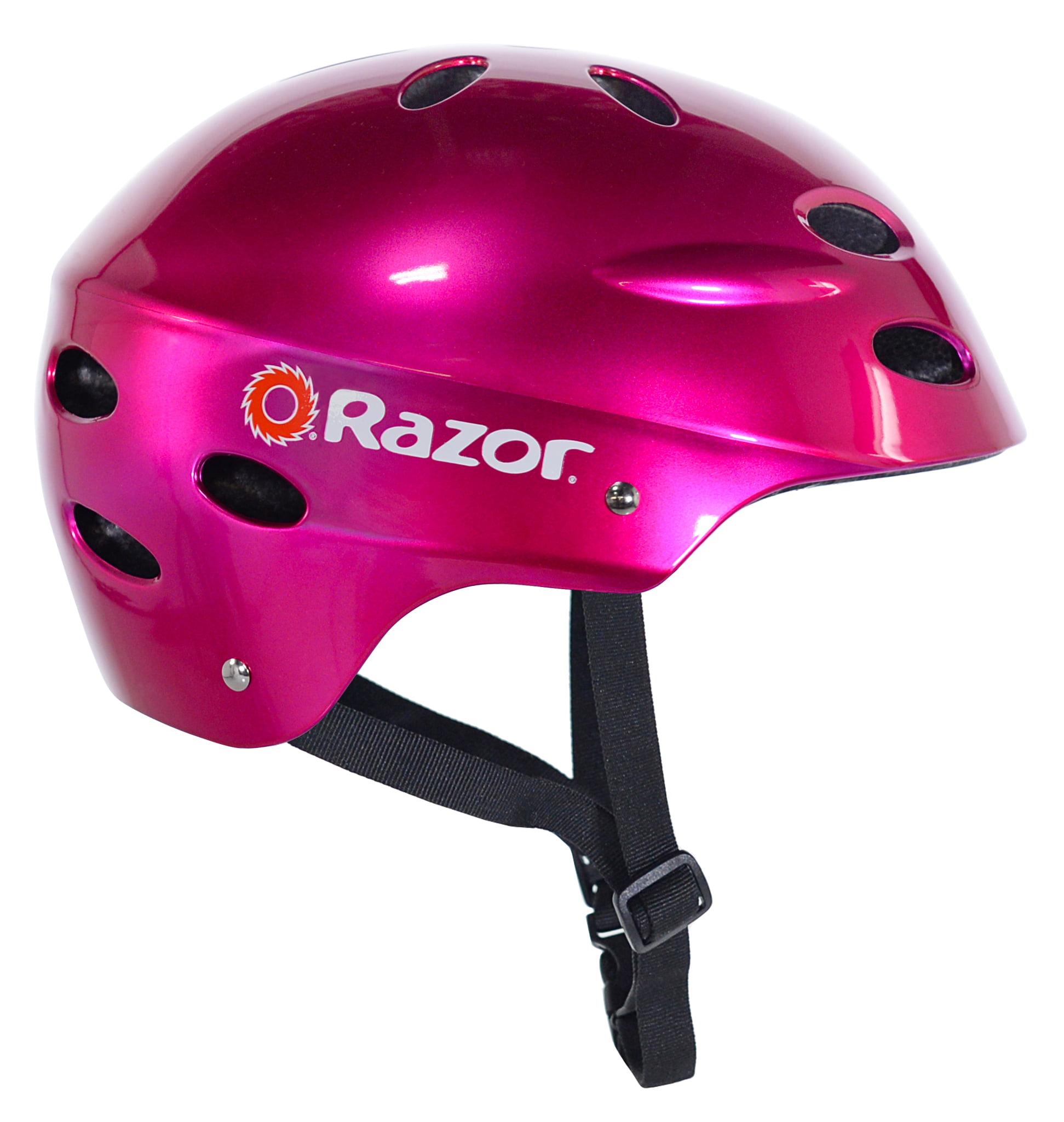 a490be2cfe6 Razor V17 Youth, Multi-Sport Helmet, Glossy Black, For Ages 8-14 -  Walmart.com