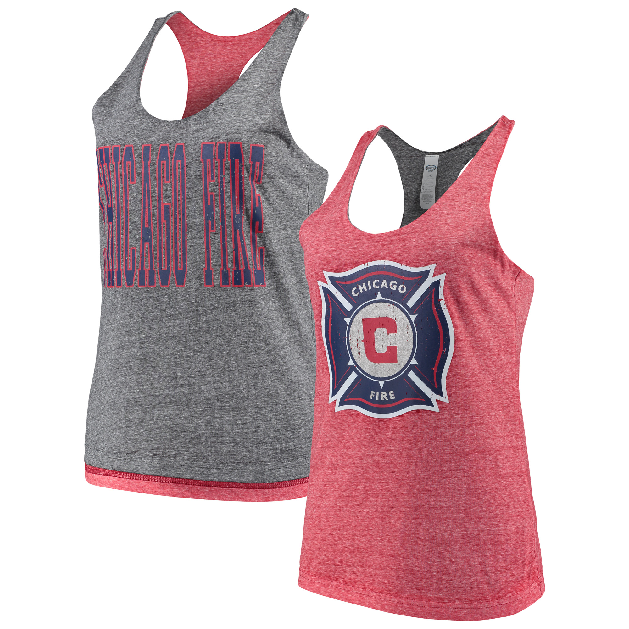 Chicago Fire Concepts Sport Women's Squad Reversible Tank Top - Red/Charcoal