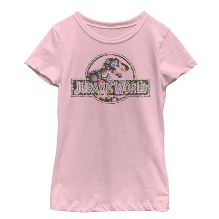Jurassic World Girls' Vintage Hippie Flower Logo T-Shirt](Girl Hippies)