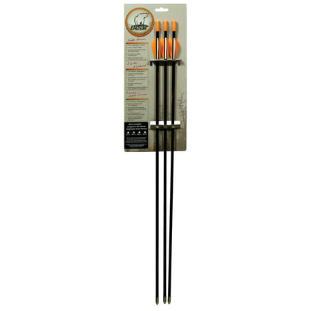 28' Cedar Arrows - Bear Archery Youth Safetyglass Arrows with Nock and Points Installed and Pre-Fletched Vanes (3 Per Card) – 28