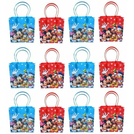 Disney Mickey and Friends Mickey Mouse Party Favor Supplies Goody Loot Gift Bags 12pcs Mickey Mouse Goody Bags