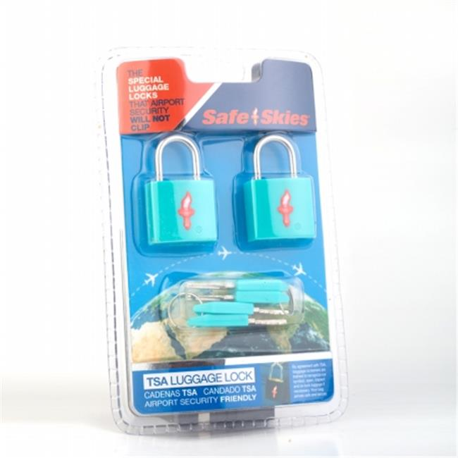 Safe Skies No. 201a TSA-Approved padlocks double-set - Aqua Blue