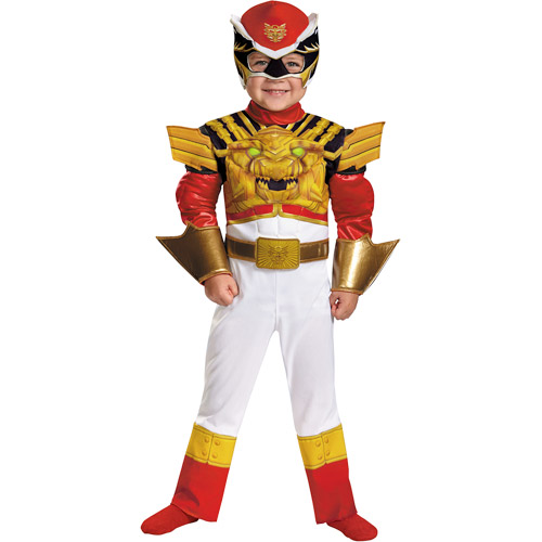 Power Rangers Red Ranger Megaforce Classic Toddler Muscle Dress-Up Costume