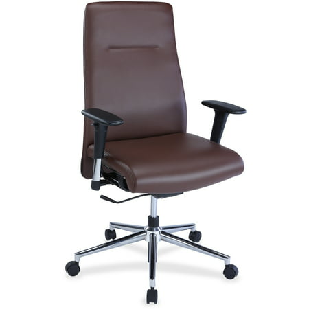 Brown Milled Leather - Lorell, GNMSN35181, Leather Suspension Chair, 1 Each
