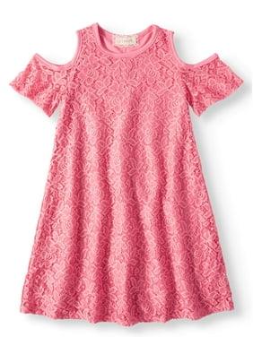 Product Image Cold Shoulder Lace Swing Dress (Big Girls) 46c36d719