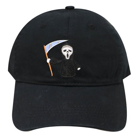 City Hunter C104 Halloween Scary Movie Cotton Baseball Caps - Black (Scary Halloween Movie Music)