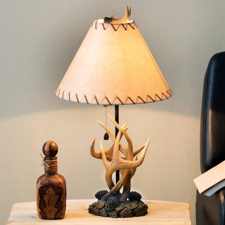 (Antler & Pinecone Cabin Table Lamp - Wilderness Lighting)