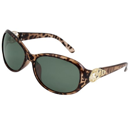 Woman leopard print green lens sports outdoor fishing for Polarized fishing sunglasses walmart