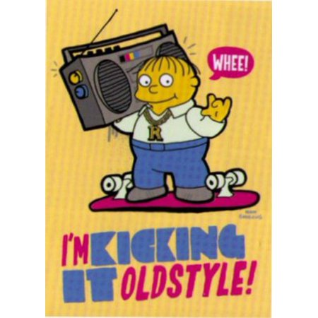 Simpsons Ralph Kicking It Old Style Magnet SM4673