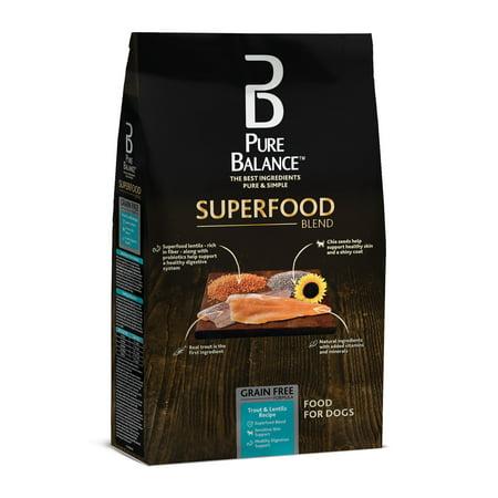 Pure Balance truite et pour l'alimentation Recette Lentil 24lbs Chiens