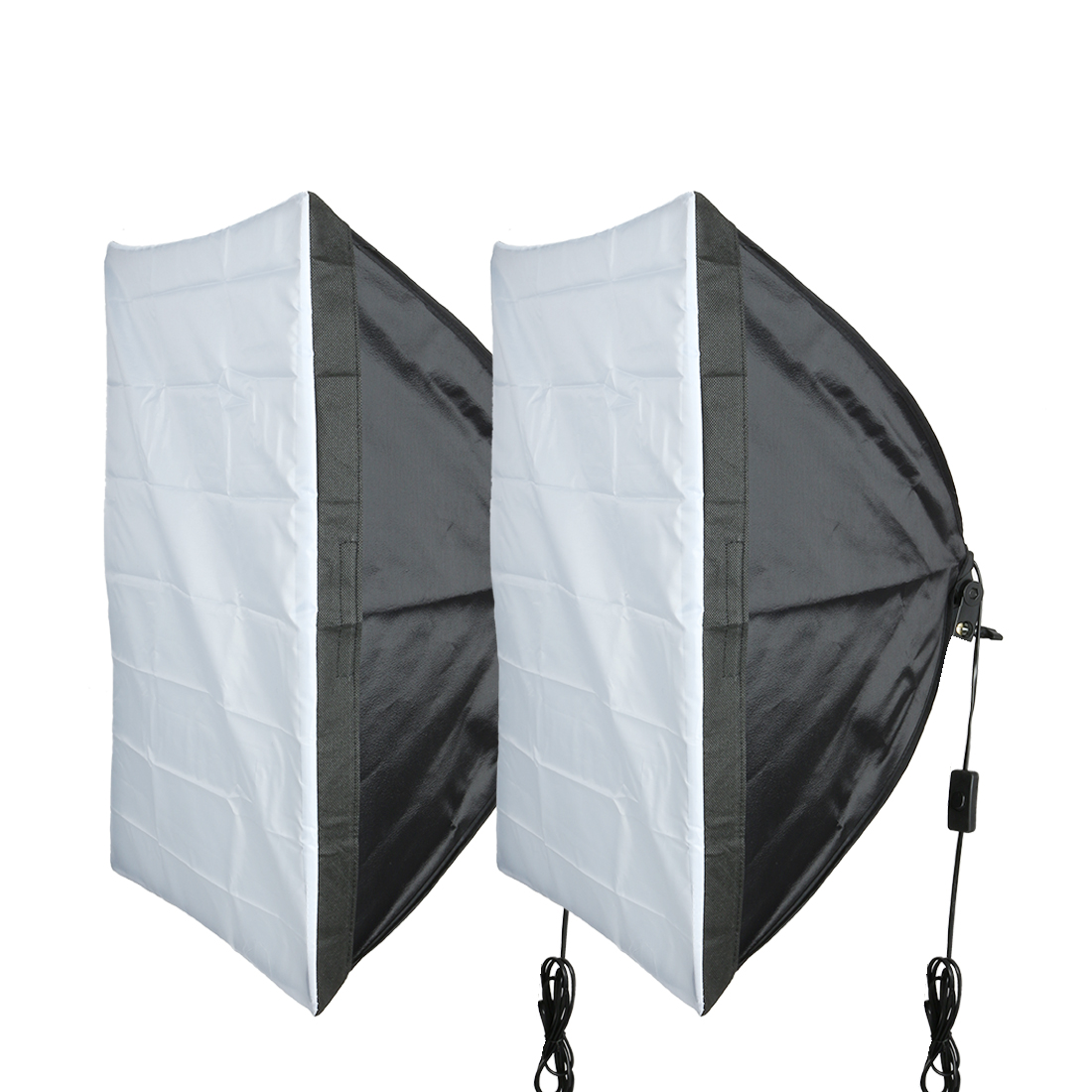 2Pcs US Plug 50cmx70cm Single Flash Umbrella Softbox for Photo Video Studio