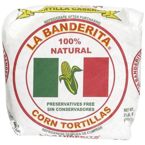 """La Banderita Casera Corn 6"""" Tortillas, 36 ct"""