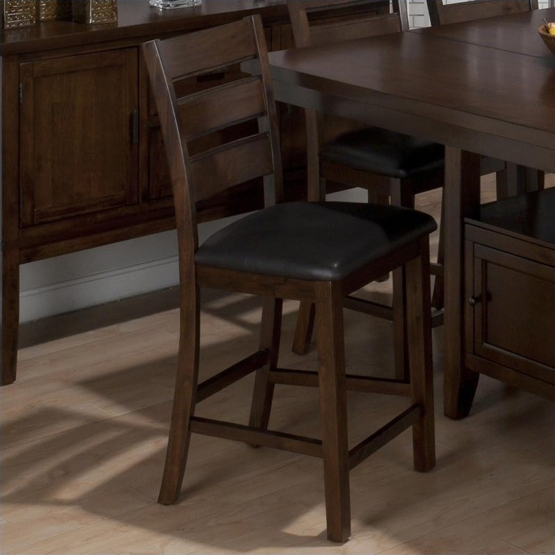 "Jofran 23.5"" Counter Stool in Taylor Brown Cherry (Set of 2) by Jofran"