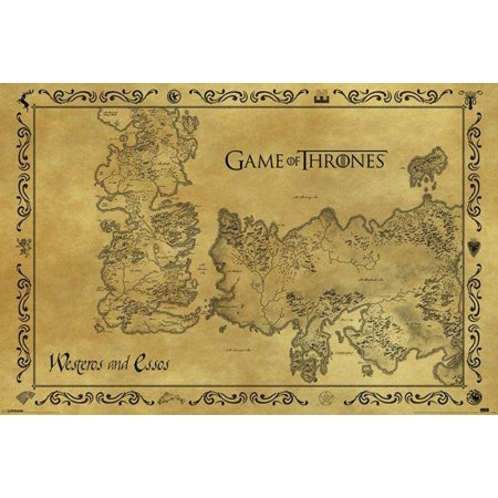 Game Of Thrones Antique Map Westeros Essos 36