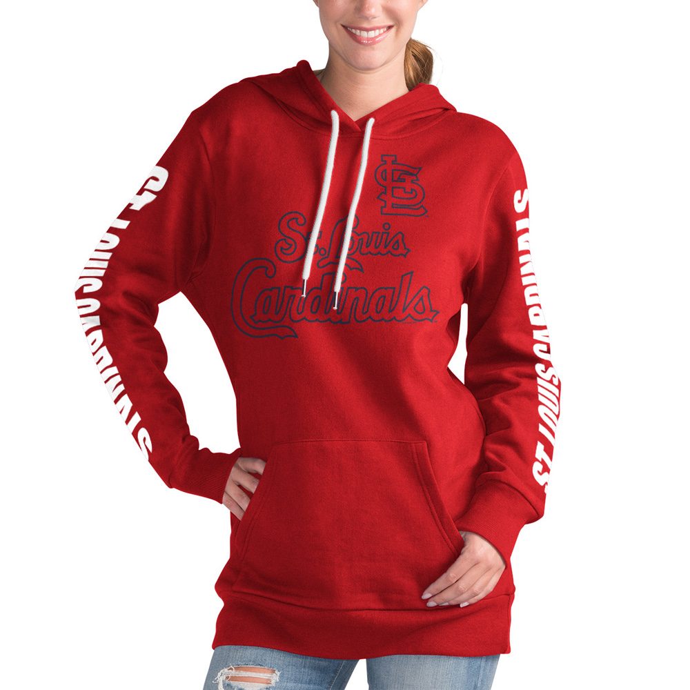 St. Louis Cardinals G-III 4Her by Carl Banks Women's Extra Innings Pullover Hoodie - Red