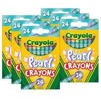 Crayola Pearl Crayons, 24 Colors per Pack, 6 Packs