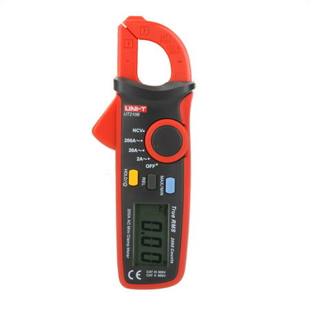 UNI-T UT210B True RMS 200A AC Mini Clamp Meters Ammeter w/ NCV Test & LCD Backlight