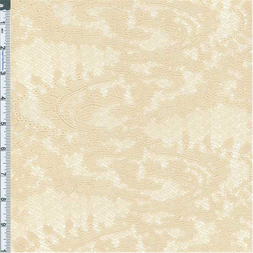 Antique Cream Lucia Jacquard Lace Knit, Fabric By the Yard
