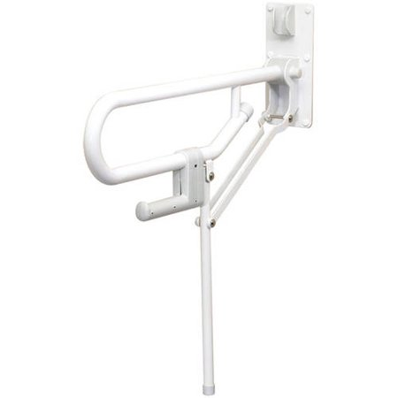 ARC GB1820-WH Fold-Up Support Grab Bar with Fixed Leg, White