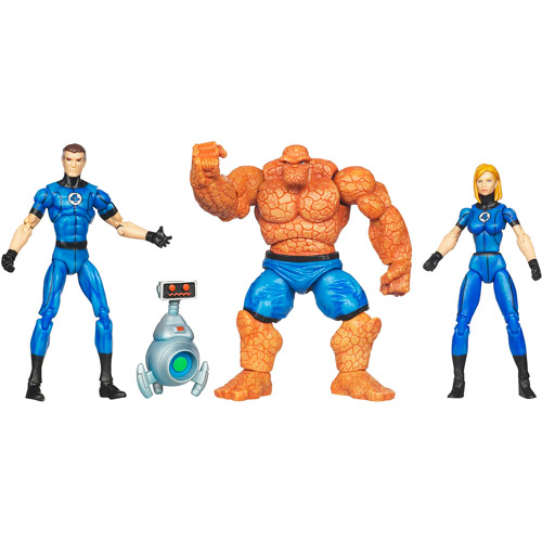 Fantastic Four Action Figure Set Classic Blue Costumes Marvel Universe