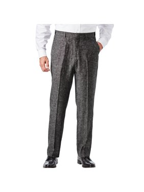 Ks Signature Men's Big & Tall Ks Island Linen Blend Plain Front Dress Pants