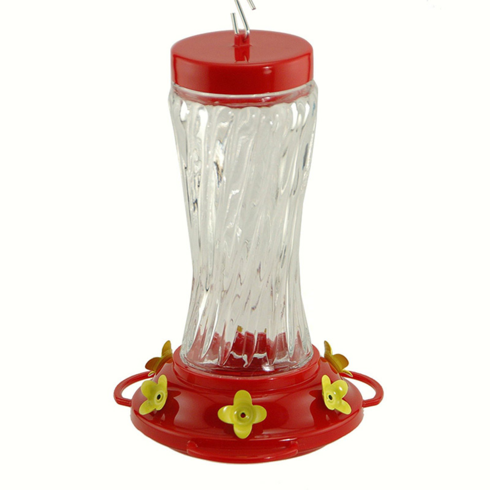 Swirl Glass Hummingbird Feeder 16 Oz.