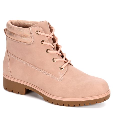Limelight Womens Brett Faux Leather Lace Up Boot Shoes