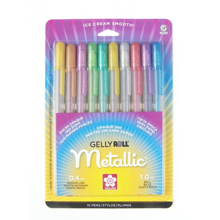 Sakura Gelly Roll Pen Set, 5-Colors, Metallic](Sakura Glaze Pens)