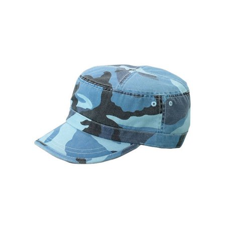 CAMO TWILL WASHED ARMY CAP - Blue - Camouflage Twill Cap