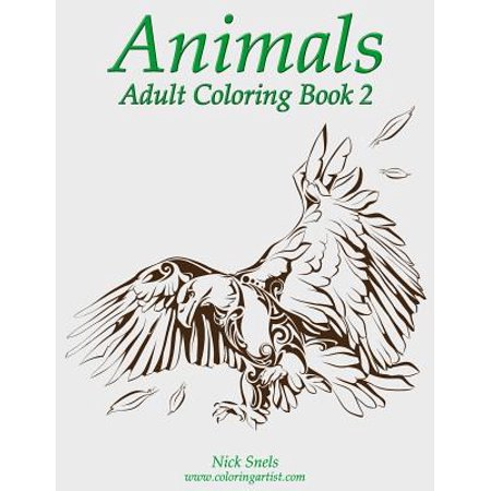 Animals adult coloring book 2 Coloring book walmart