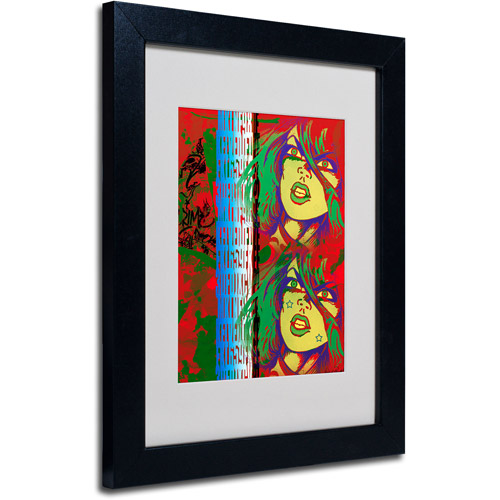 "Trademark Fine Art ""Red"" Matted Framed Art by Miguel Paredes"