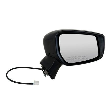 68631N - Fit System Passenger Side Mirror for 15-18 Nissan Versa Note Hatchback S, S Plus, SL, SV Model, textured black w/ PTM cover, foldaway, w/o CCD camera,