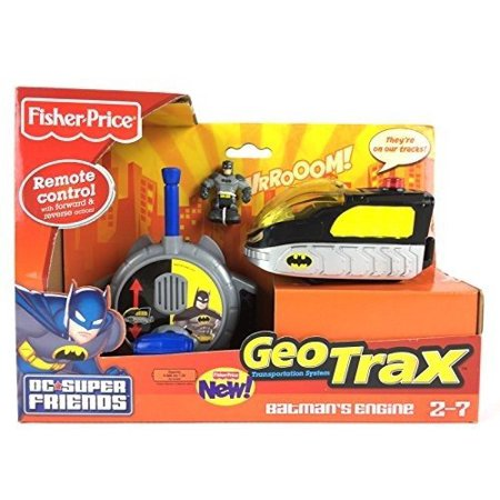 Geotrax Lights - Fisher-Price GeoTrax DC Super Friends Turbo Remote Control Vehicle - Batman's Engine