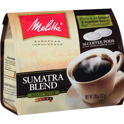 Melitta Sumatra Blend Coffee Pods, 16 count