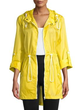Pink Platinum Juniors' Tafetta Ripstop Pack in a Pocket Windbreaker Jacket